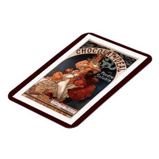 Vintage Art Nouveau Chocolate Ad Magnet