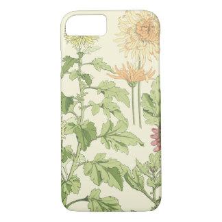 Vintage Art Nouveau, Chrysanthemums in a Garden iPhone 7 Case