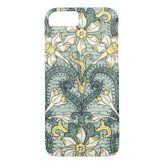 Vintage Art Nouveau Daffodil Narcissus Flowers iPhone 7 Case
