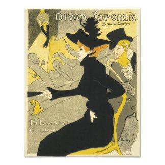 Vintage Art Nouveau, Divan Japonais Nightclub Cafe 11 Cm X 14 Cm Invitation Card
