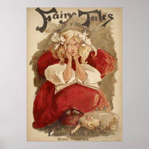 Vintage Art Nouveau | Ethel Reed Fairy Tales Poster