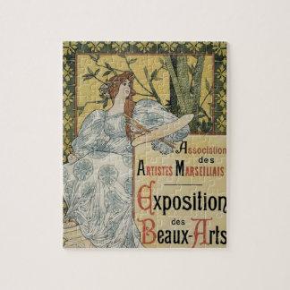 Vintage Art Nouveau, Exposition des Beaux Arts Jigsaw Puzzle
