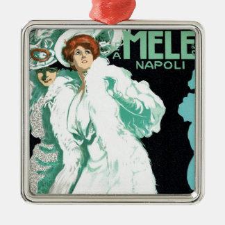 Vintage Art Nouveau, Fancy Women and Italy Fashion Christmas Ornaments