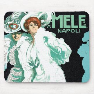 Vintage Art Nouveau, Fancy Women and Italy Fashion Mouse Pad