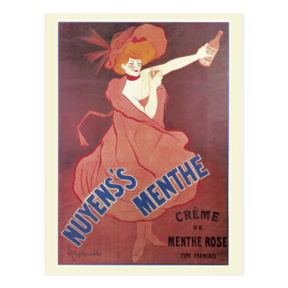 Vintage art nouveau French liquor ad Postcard