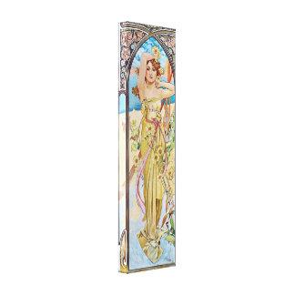 Vintage Art Nouveau Goddess Canvas Print