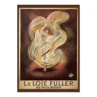 Vintage Art Nouveau, La Loie Fuller Dancer Dancing 13 Cm X 18 Cm Invitation Card