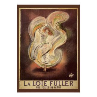 Vintage Art Nouveau La Loie Fuller Dancer Dancing Announcements
