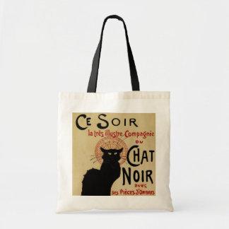 Vintage Art Nouveau, Le Chat Noir Canvas Bags
