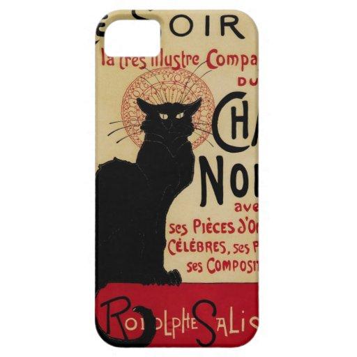 Vintage Art Nouveau, Le Chat Noir iPhone 5 Cover