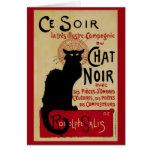 Vintage Art Nouveau, Le Chat Noir Greeting Cards