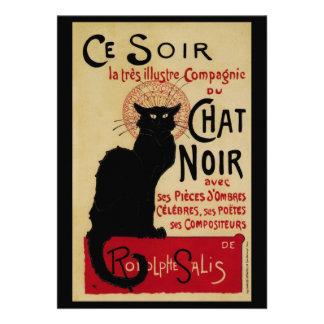 Vintage Art Nouveau Le Chat Noir Invitations