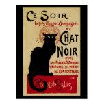 Vintage Art Nouveau, Le Chat Noir Postcard