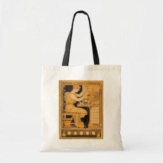 Vintage Art Nouveau, Love Conquers All Scientist Budget Tote Bag