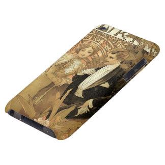 Vintage Art Nouveau Love Romance, Flirt by Mucha iPod Touch Case