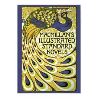 Vintage Art Nouveau, Macmillan's Peacock Feather 13 Cm X 18 Cm Invitation Card