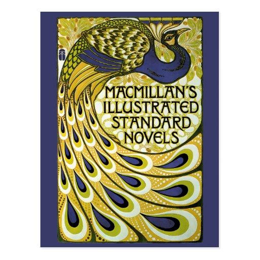 Vintage Art Nouveau, Macmillan's Peacock Feather Postcard