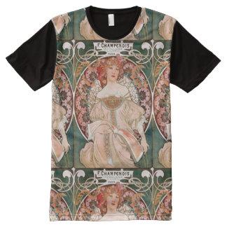 Vintage Art Nouveau Mucha Print All-Over Print T-Shirt
