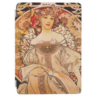 Vintage Art Nouveau Mucha Print iPad Air Cover