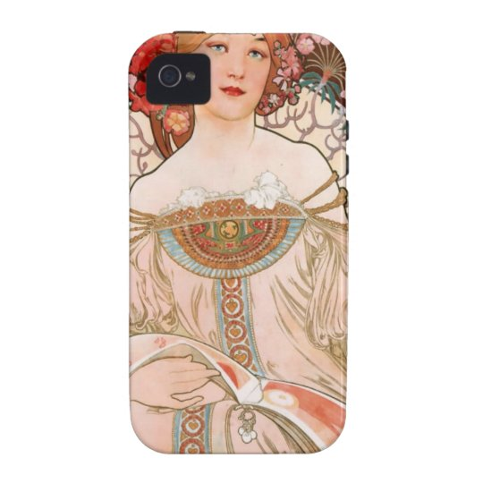 Vintage Art Nouveau Mucha Print iPhone 4/4S Cover