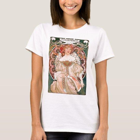 Vintage Art Nouveau Mucha Print T-Shirt