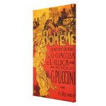 Vintage Art Nouveau Music, La Boheme Opera, 1896 Canvas Prints