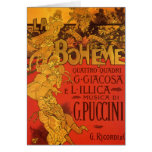 Vintage Art Nouveau Music, La Boheme Opera, 1896 Greeting Cards