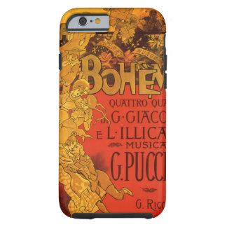 Vintage Art Nouveau Music, La Boheme Opera, 1896 Tough iPhone 6 Case