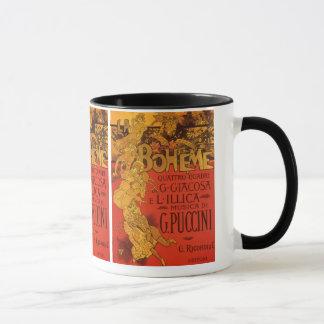 Vintage Art Nouveau Music, La Boheme Opera, 1896 Mug