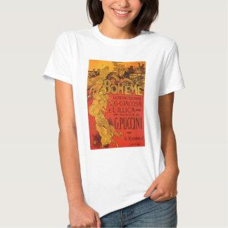 Vintage Art Nouveau Music, La Boheme Opera, 1896 T-shirt
