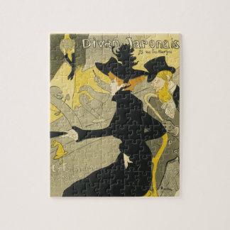 Vintage Art Nouveau Nightclub Cafe, Divan Japonais Jigsaw Puzzle