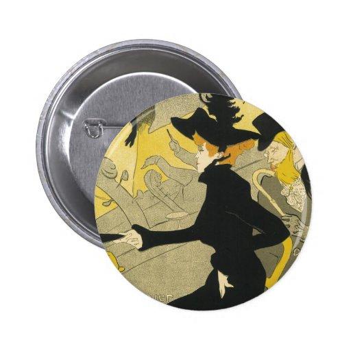 Vintage Art Nouveau, Nightclub, Divan Japonais Pinback Button