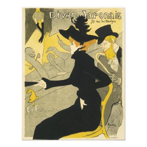 Vintage Art Nouveau, Nightclub, Divan Japonais Custom Announcements
