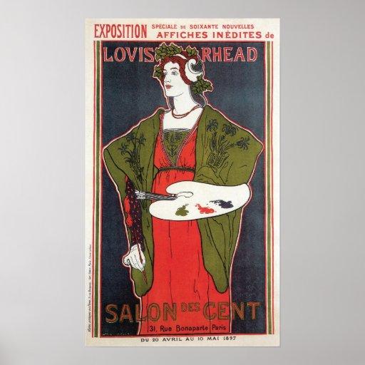 Vintage Art Nouveau Paris Exhibition Print