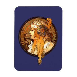 Vintage Art Nouveau Portrait Magnet