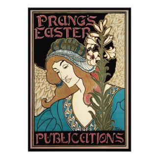 Vintage Art Nouveau Prangs Easter Publications Custom Invites