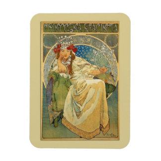 Vintage Art Nouveau Princess Magnet