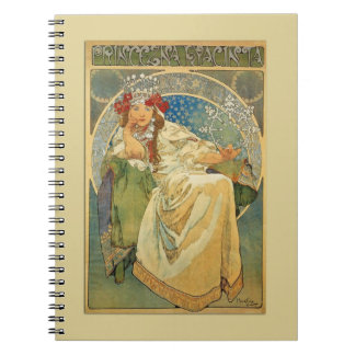 Vintage Art Nouveau Princess Notebook