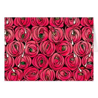 Vintage Art Nouveau Roses Card