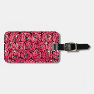 Vintage Art Nouveau Roses Luggage Tag