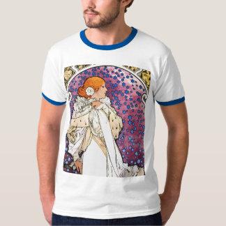 Vintage Art Nouveau Shirt by Mucha