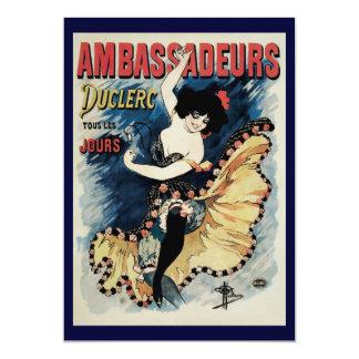 Vintage Art Nouveau, Spanish Flamenco Dancer 13 Cm X 18 Cm Invitation Card