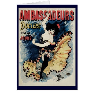 Vintage Art Nouveau, Spanish Flamenco Dancer Card