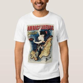 Vintage Art Nouveau, Spanish Flamenco Dancer T Shirt