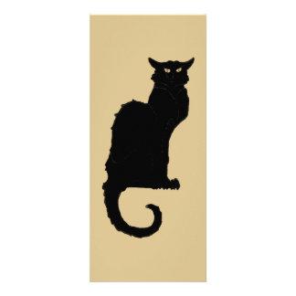 Vintage Art Nouveau Spooky Halloween Black Cat Invites