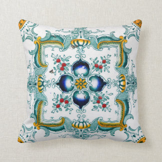 Vintage Art Nouveau Tile Cushion