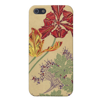 Vintage Art Nouveau Tulips iPhone 5/5S Case