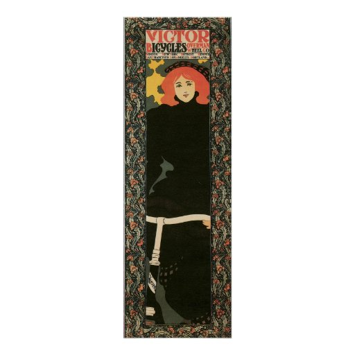 """Vintage art nouveau vertical 12"""" x 36"""" print"""