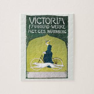 Vintage Art Nouveau, Victoria Fahrrad Werke, Rehm Jigsaw Puzzle