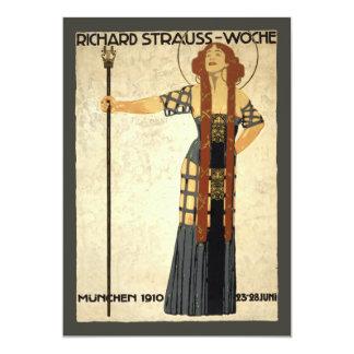 Vintage Art Nouveau, Victorian Woman 13 Cm X 18 Cm Invitation Card